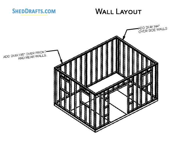 12×16 Gable Garden Storage Shed Plans Blueprints To Craft