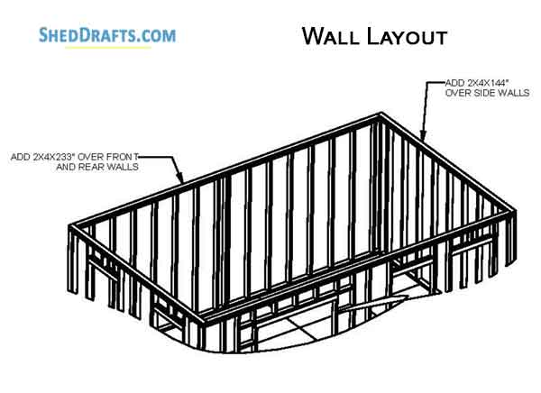 12×20 Gable Storage Shed Plans Blueprints For Erecting A