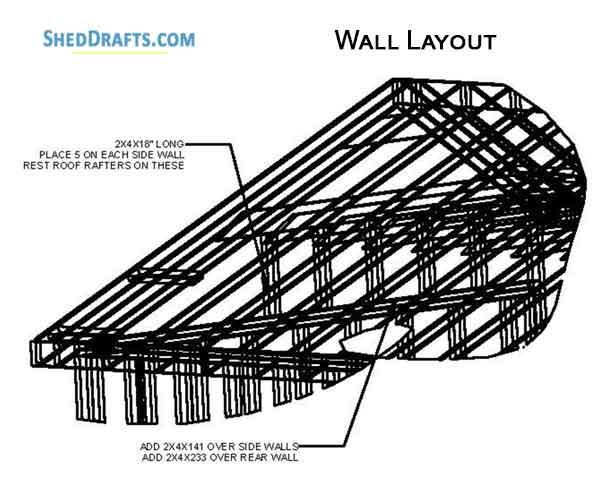 12×20 Saltbox Storage Shed Plans Blueprints For Erecting A