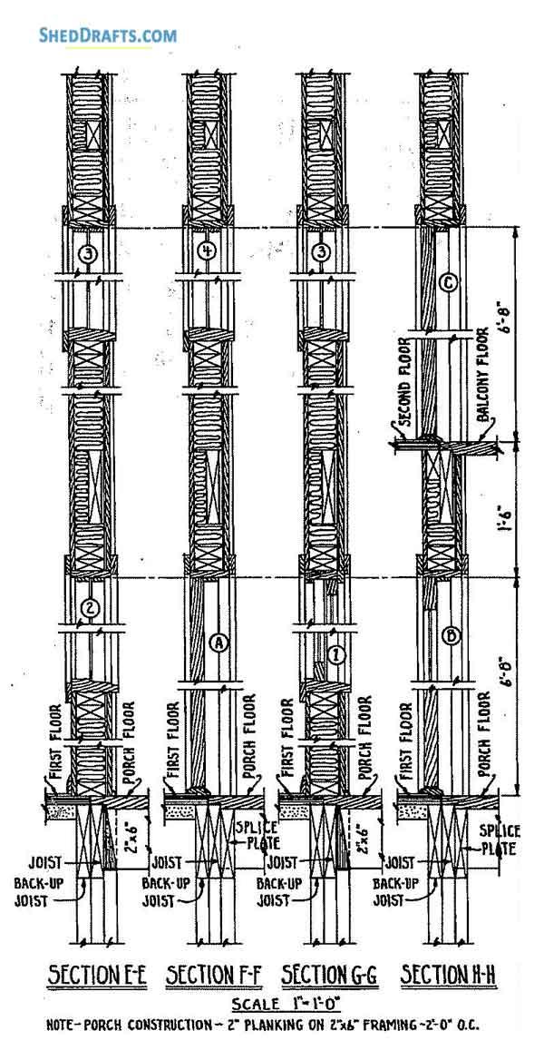 24×36 A Frame Cabin Shed Plans Blueprints For Designing