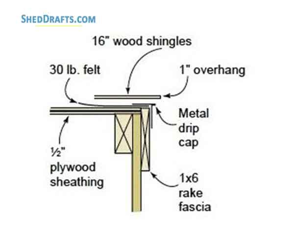 4×6 Garden Tool Storage Shed Plans Blueprints For DIY Shed