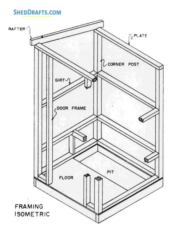 Small Storage Shed Plans Blueprints For Constructing A 4×4