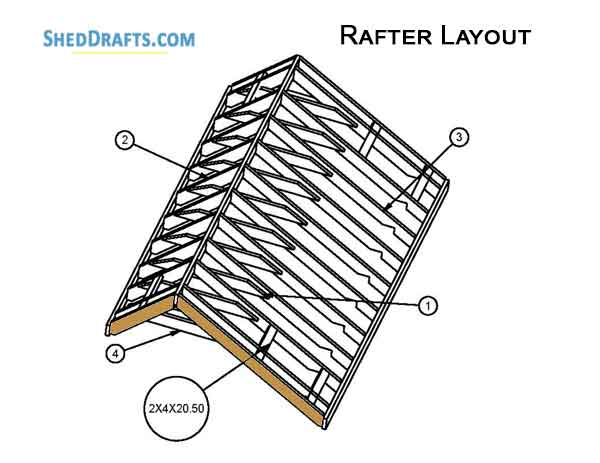 6×12 DIY Saltbox Shed Plans Blueprints To Create A Yard Shed
