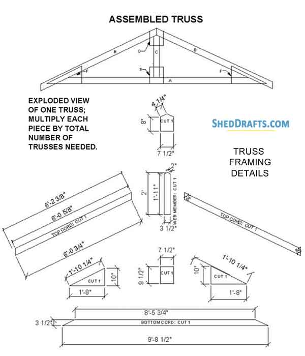 6×8 Gable Playhouse Shed Plans & Blueprints For Compact