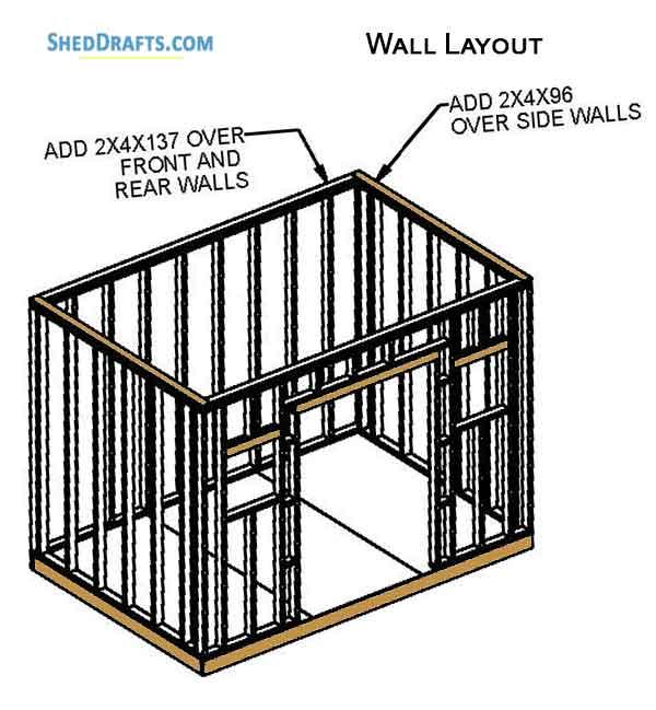 8×12 Gable Garden Storage Shed Plans Blueprints For