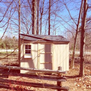 10 ft. x 8 ft. Gable Wood Shed