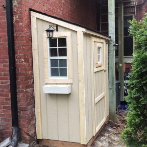 Wooden Single Slope Shed 6' x 3'