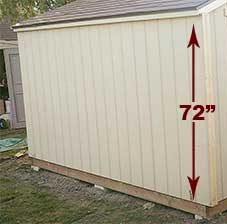 Side Wall Shed Height