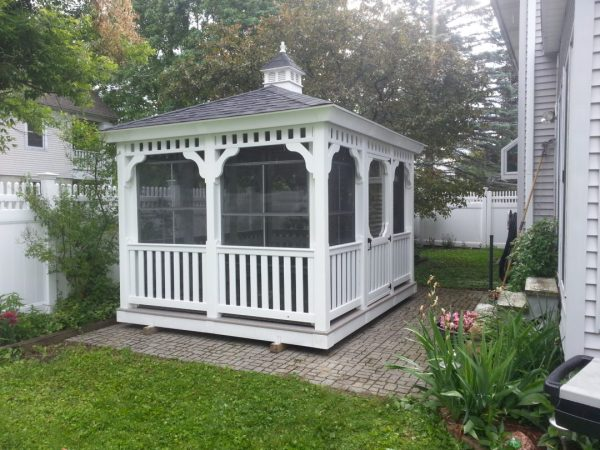 10'x12' Rectangle Gazebo With Four-track Windows Delivered Pittsfield Ma 01201 - Shed Man