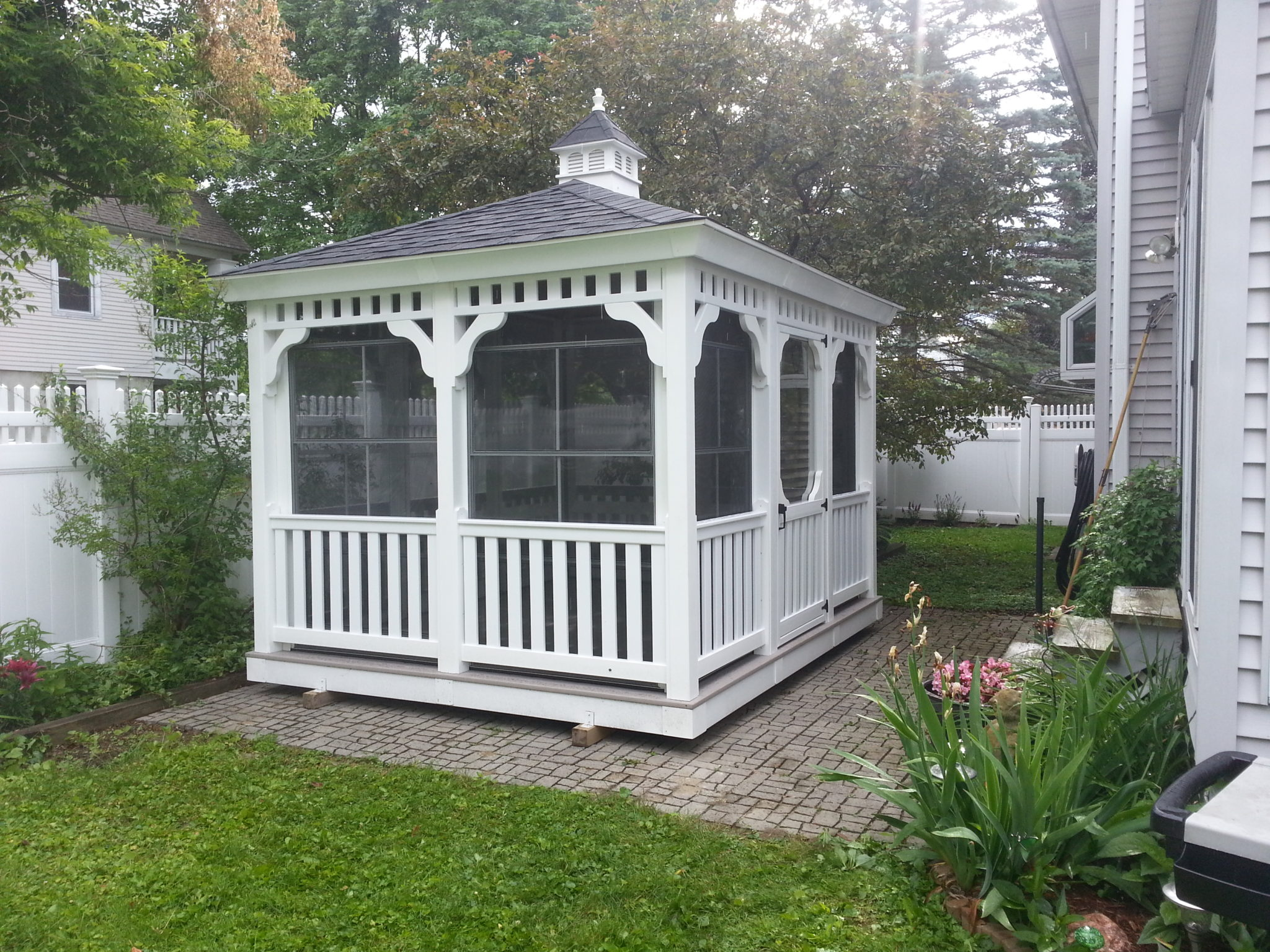 10 X12 Rectangle Gazebo With Four Track Windows Delivered
