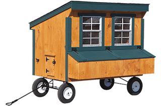 Chicken coops, with and without wheels