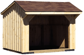 Horse barns and run-in sheds
