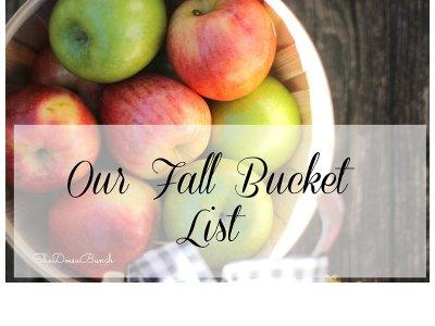 Our Fall Bucket List