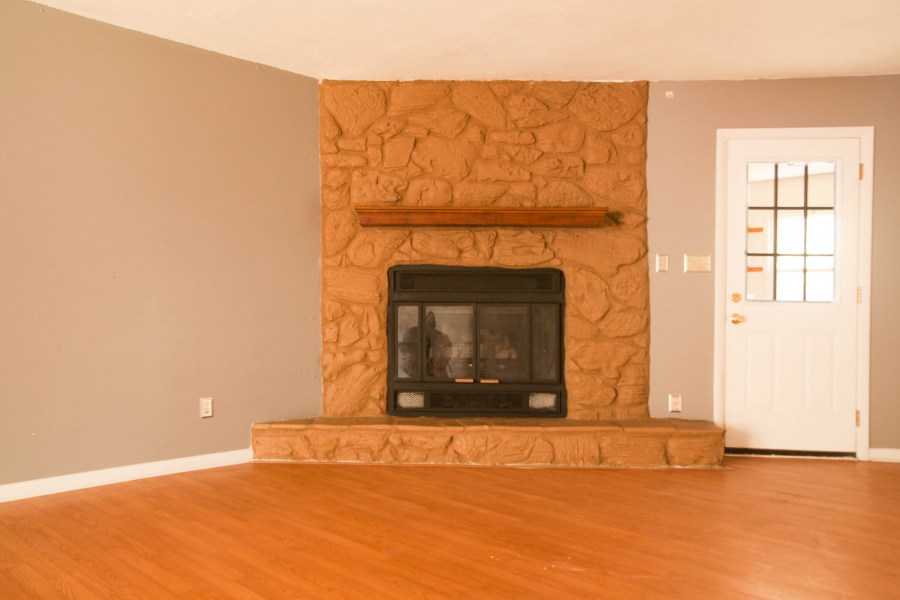First Rental Property Fire Place in Living Room