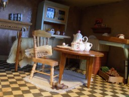 1940 Kitchen Table and Chair