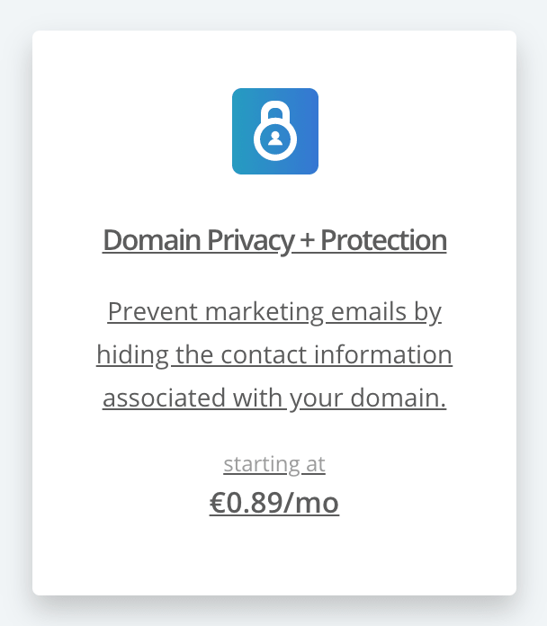 domain privacy protection for blogging anonymously