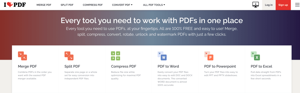 ilovepdf for merging ebook cover and content