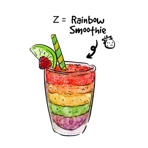 Rainbow Smoothie Z
