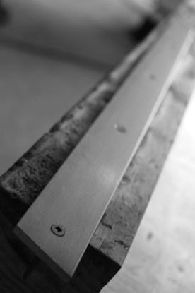 steel flat bar toe kick.