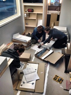 Our IKEA kitchen drawers & doors were built with a little help from our friends!