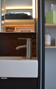 Bathroom trim around bathroom sink