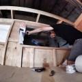 Laying the sill flashing pan