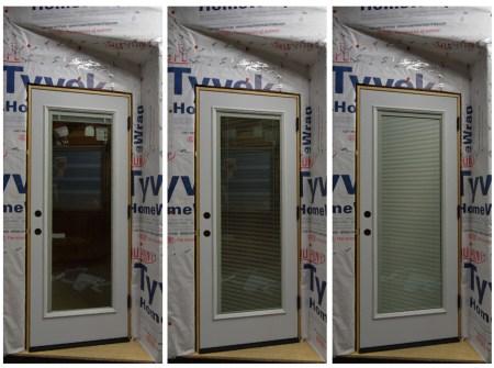 Front Entry Door w/ Internal Retractable Blinds