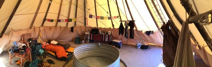 Teepee Accommodations. May, 2016