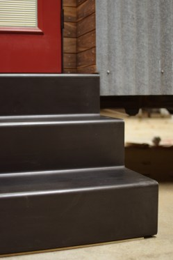 Exterior folded steel stair detail