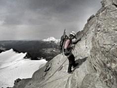 Descending the Summit Pyramid
