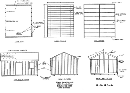 looking 14 by 24 shed plans ~ Haddi