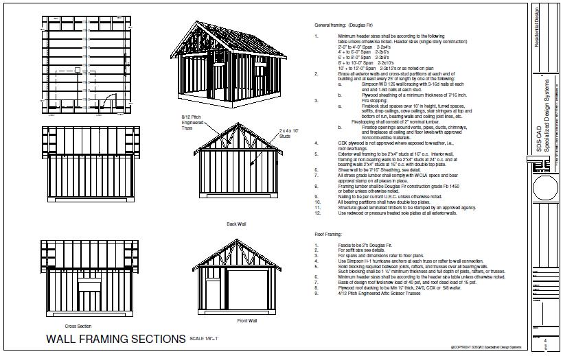 Shed Plans 12×36 : Americans Most Popular Shed Designs