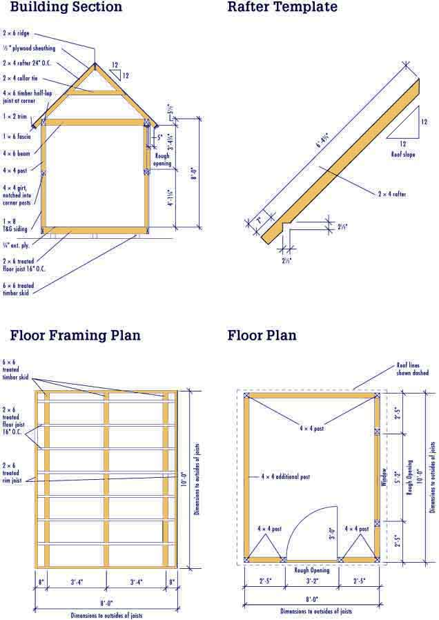 10 8 Plans X Metal Shed
