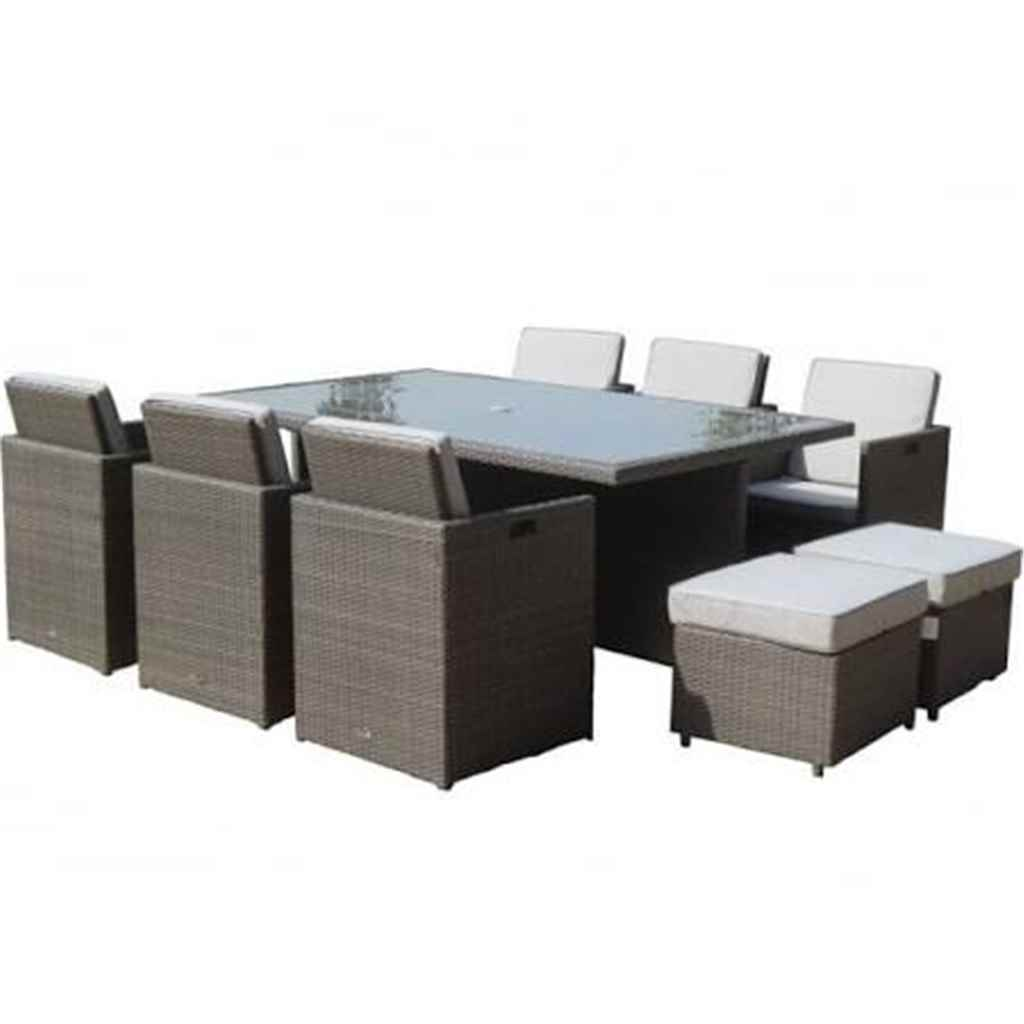 Cube Chairs Shedswarehouse Garden Furniture Marlow Flat Weave Slate Grey Oos 10 Seater Marlow Deluxe Cube Set 195cm X 125cm Rectangle Table With
