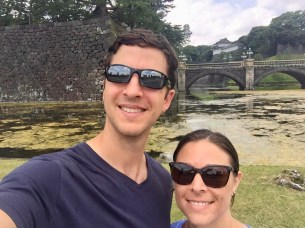 Selfie outside the Imperial Palace grounds