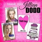 Thank you to Jillian Dodd