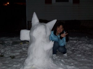 Neeks Build Snowmen