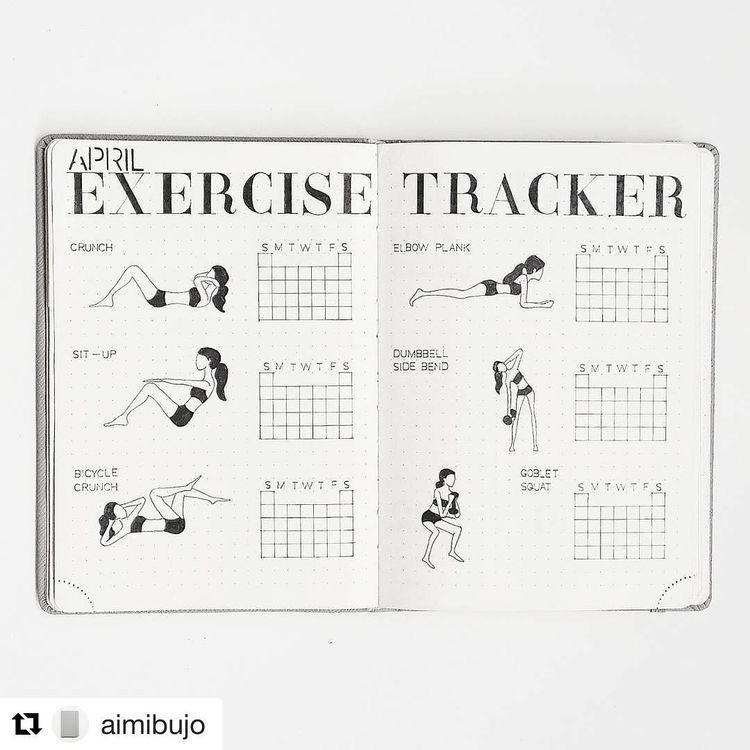 19 Best Bullet Journal Ideas for Workout Trackers and