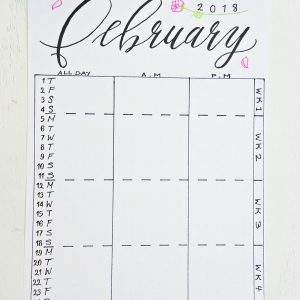 February 2018 Monthly Planning Kit ⋆ Sheena of the Journal