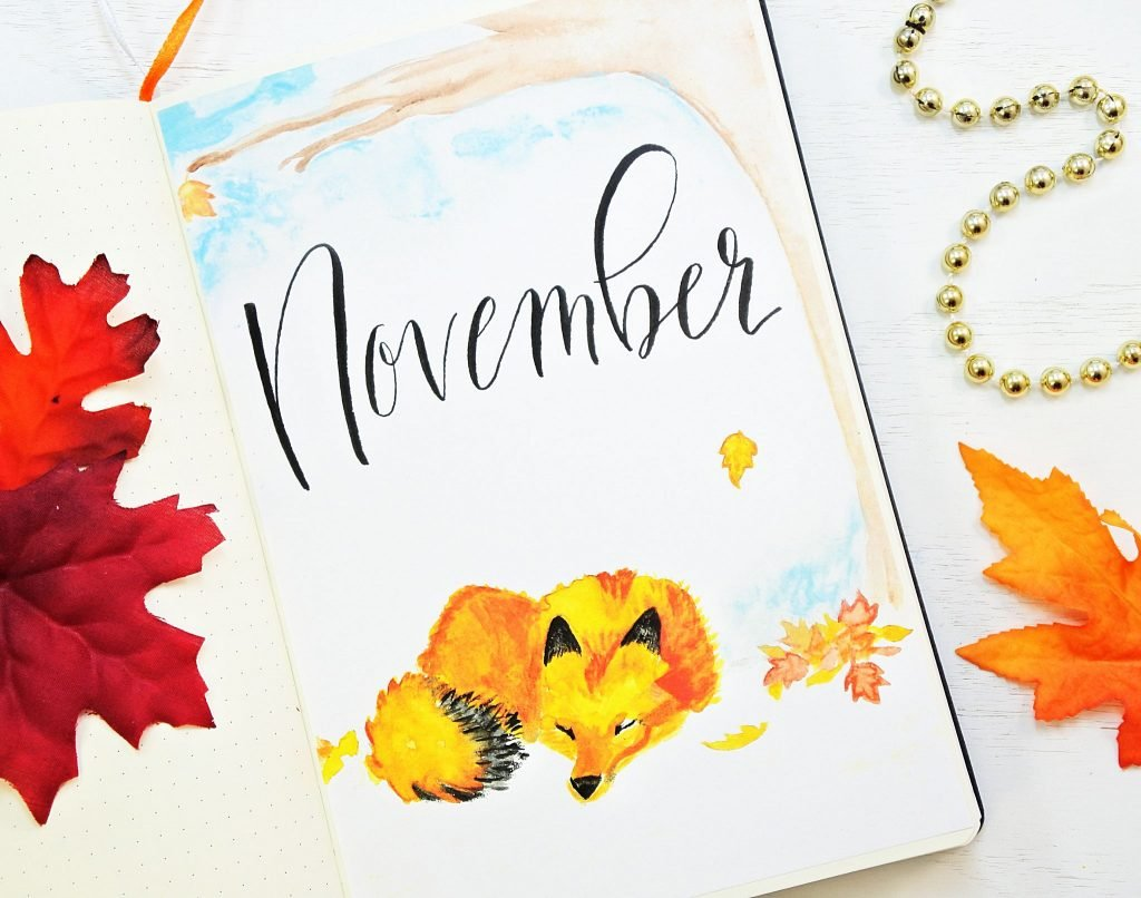 November Bullet Journal Setup With Free Printables