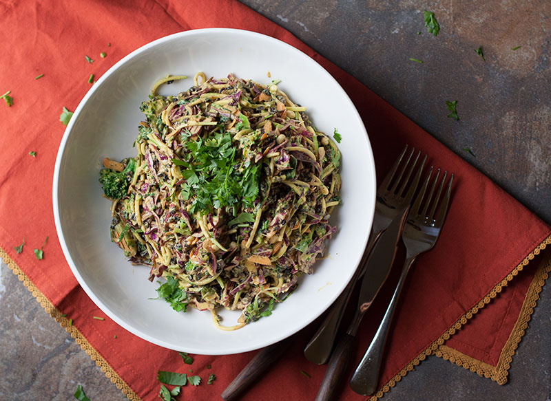 Miso Turmeric Zucchini Salad