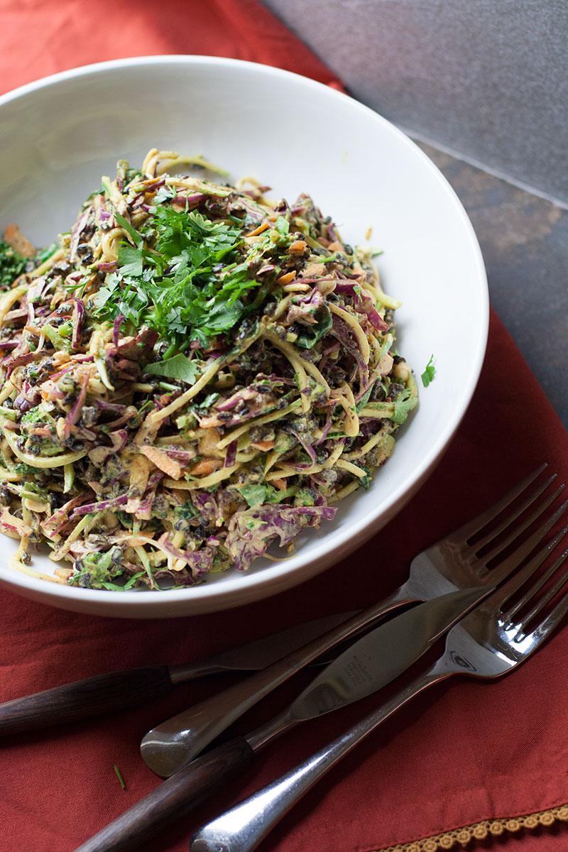 Miso Turmeric Zucchini Salad | SheenaScott.com