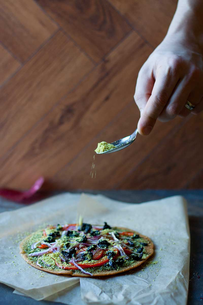 Socca Pesto Pizza | SheenaScott.com
