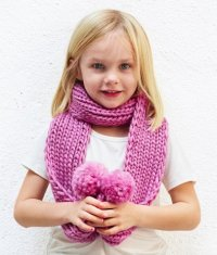 The Baby Pom Scarf Knitting Pattern
