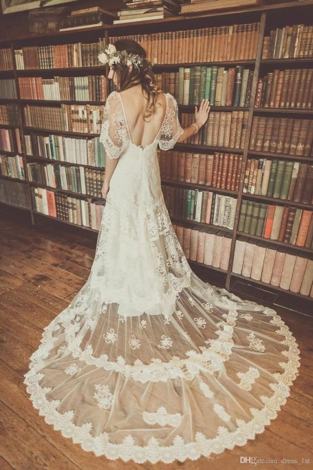 bohemian-wedding-dresses-2016-lihi-hod-ivory-lace-short-sleeve-v-neck-backless-applique-chapel-train-bridal-gowns-boho-custom-made-en1161