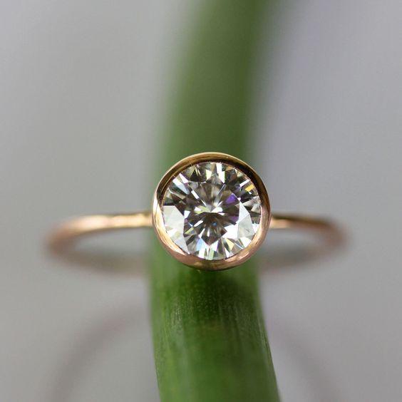 Bezel set engagement rings @SheerEverAfter