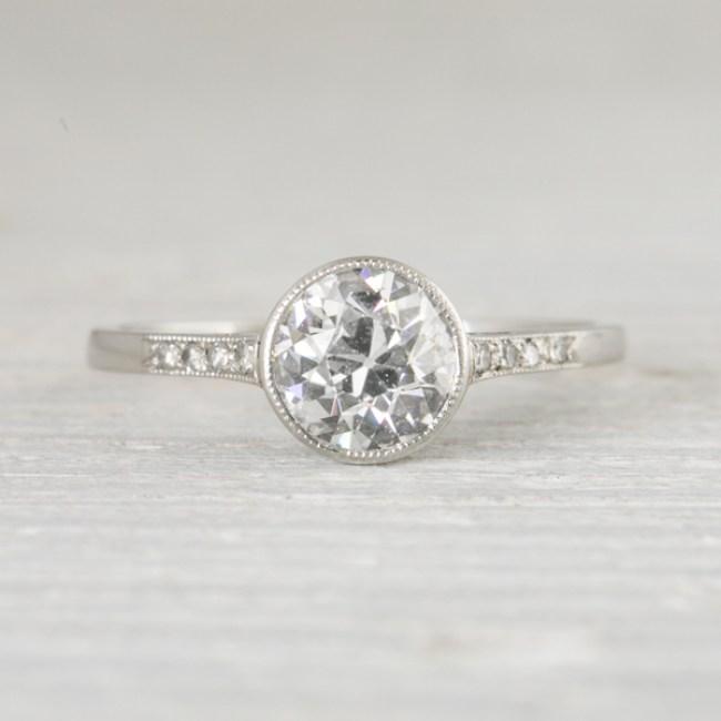 Bezel set engagement ring @SheerEverAfter