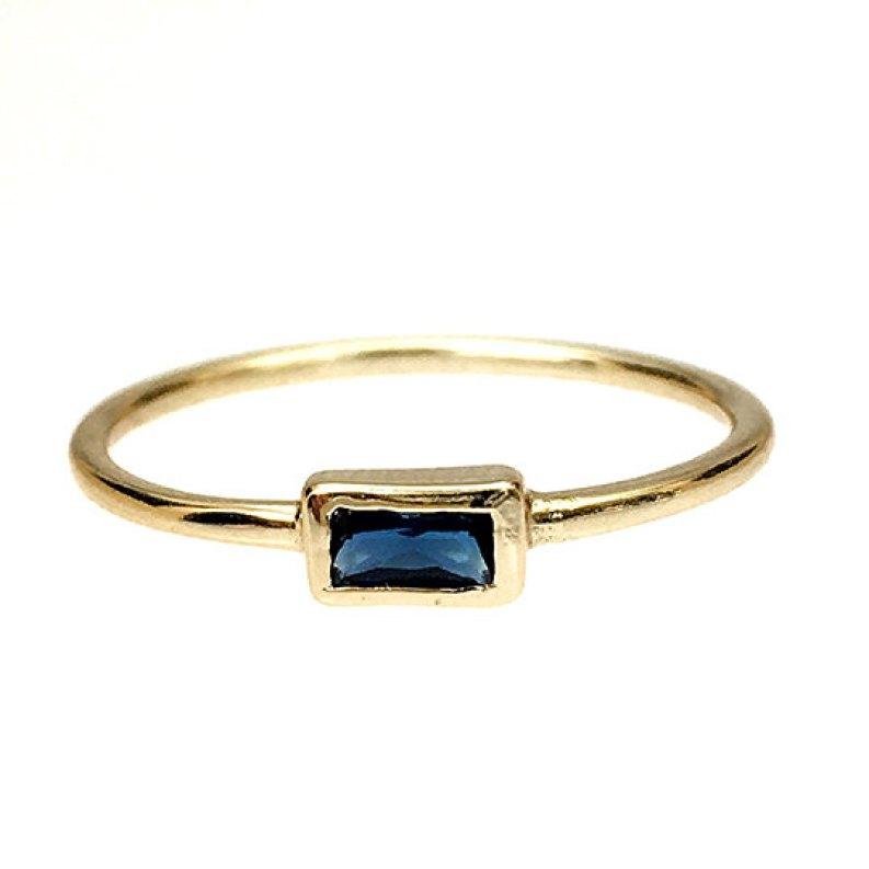 Bezel set minimalist engagement ring @SheerEverAfter
