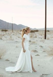 Modern Wedding Dress @SheerEverAfter
