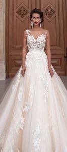 Romantic traditional wedding dress @SheerEverAfter
